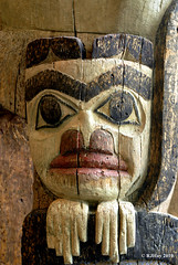 Haida Totem Detail - Museum of Civilization