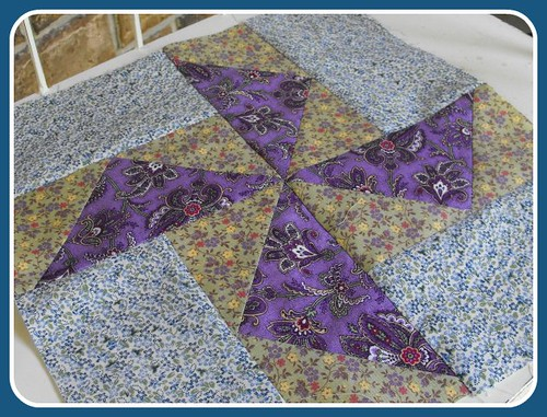 Pat's Posy Pinwheels - 2010 Round Robin Quilt Bee