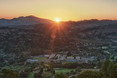Sunrise over Miramonte H.S. (jpaulus) Tags: sun sunrise highschool valley mtdiablo overlook hdr miramonte d90 hdrefx