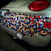 Customized Volkswagon VW bug with pimped out bumper of jewels and diamonds
