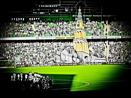 Tifo actie 17 oktober 2010 FC Groningen-SC Heerenveen 1-0