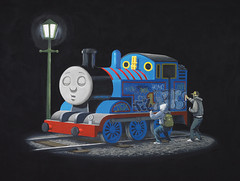 Thomas the Tank Engine Makeover by Banksy
