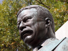 Theodore Roosevelt Memorial Head (Mr. T in DC) Tags: sculpture bronze washingtondc dc statues 1967 monuments tr memorials theodoreroosevelt theodorerooseveltisland paulmanship trisland theodorerooseveltmemorial trmemorial
