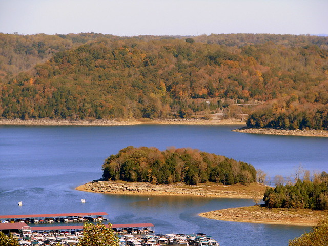 Fall view of Center Hill Lake