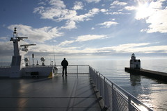 Lake Express high speed ferry in Kewaunee, Wisconsin (Lake Express) Tags: auto car ferry wisconsin michigan lakemichigan madison milwaukee grandrapids highspeed muskegon carferry lakeexpress kewaunee austal lakemichiganferry