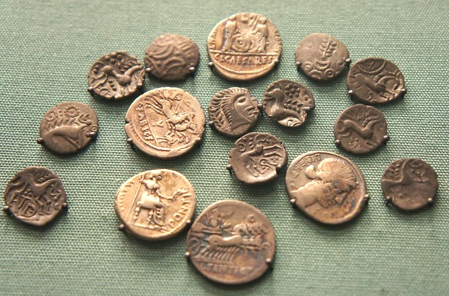 Eriswell Suffolk mixed hoard of Iceni and Roman. L.Sentius, C.Fabius about 102BC, Brutus, Augustus, Tiberius. Could old coins be spoils Brenner pass defeat.