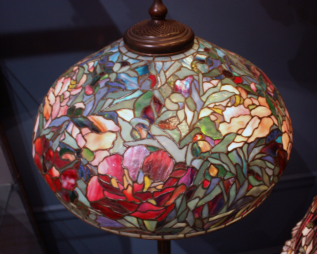 Elaborate Peony Shade with Standing Lamp
