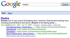 Reuters in Google SERP