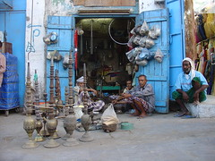 hookah shop in Hudaida (Yemen) (olga_rashida) Tags: blue fab yemen blau sanaa blueribbonwinner 10faves anawesomeshot aplusphoto superbmasterpiece top20blue flickrphotoaward colourartaward hudaida excapture top20travelpix