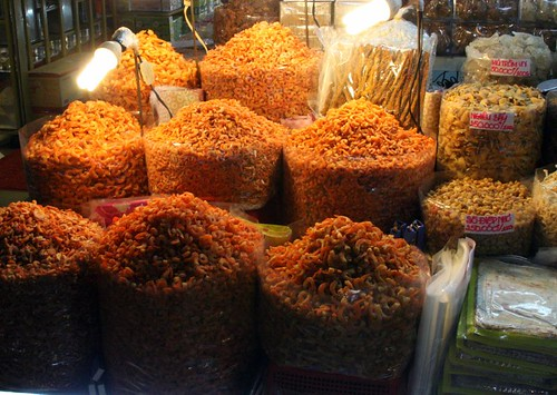 A plethora of dried shrimps