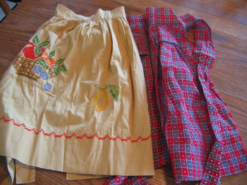 Thrifted Aprons