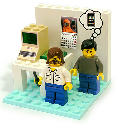 Wozniak y Jobs en LEGO
