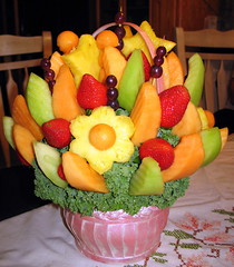 Fruit Bouquet. (PrettyProblem) Tags: colorful honeydew strawberries explore pineapple grapes bouquet edible cantaloupe fruitbouquet blueribbonwinner flickrexplore ediblearrangements interestingness205 i500 explore205 happinessconservancy