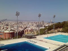 Barcelona: Olympic Diving Pool (Jules T!!) Tags: barcelona trip travel vacation holiday vacances spain travels holidays europa europe eu catalonia casio espana catalunya olympic olympics espagne casioexilim europeanunion spanien 2007 iberia espagna evropa nixonator thenixonator