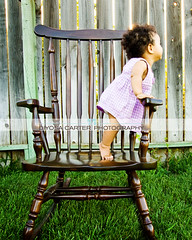 i miss her immobility (diyosa) Tags: brown green grass standing fence dress purple rockingchair vallejo 9months tiptoes imissimmobility