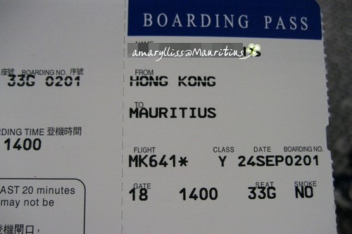 My boarding pass