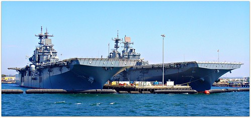 US Navy Helicopter Carriers, San Diego Harbor, California