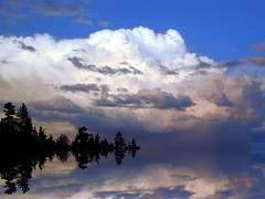 rippled-reflections of the clouds
