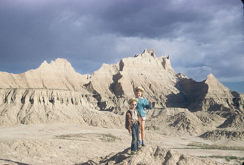 Two desperadoes hole  up in the Badlands