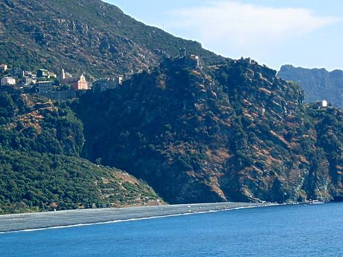 Village de Nonza depuis la côte