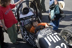 kid in racecar