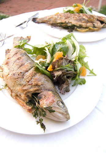 The Gourmet Challenge: Grilled Trout with Orange and Fennel Salad