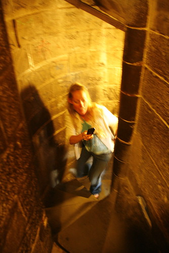 blurry brooke climbing duomo
