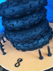 Carter 10 (ClaresCakes) Tags: cake stack dirtbike motocross tyre fondant