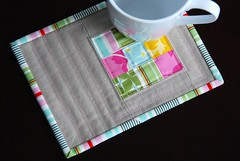 Nicey Jane Mug Rug (Mary1602) Tags: stripes patchwork coaster heatherbailey mugrug niceyjane