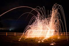 Coiled Light (paulfarrellphoto) Tags: longexposure light night canon fire eos spinning helix coil sparks steelwool 450d