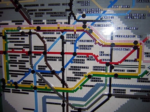 Lego Tube Map by talltim10