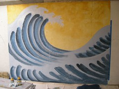 Samurai Wave (Kurt Christensen) Tags: art beach painting mural surfer gilgobeach gilgo
