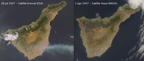 Fires in Tenerife