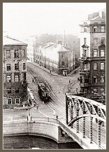 """Трамвайный """"Измайловский"""" мост через Фонтанку"""