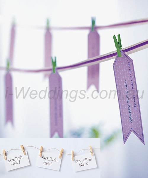 iLoveThese - pegged escort card display