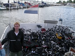 Volendam - traghetto (a.turchetto) Tags: amsterdam zeppelin alberto bici lucia alessandro