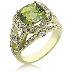 Color Story Peridot Ring