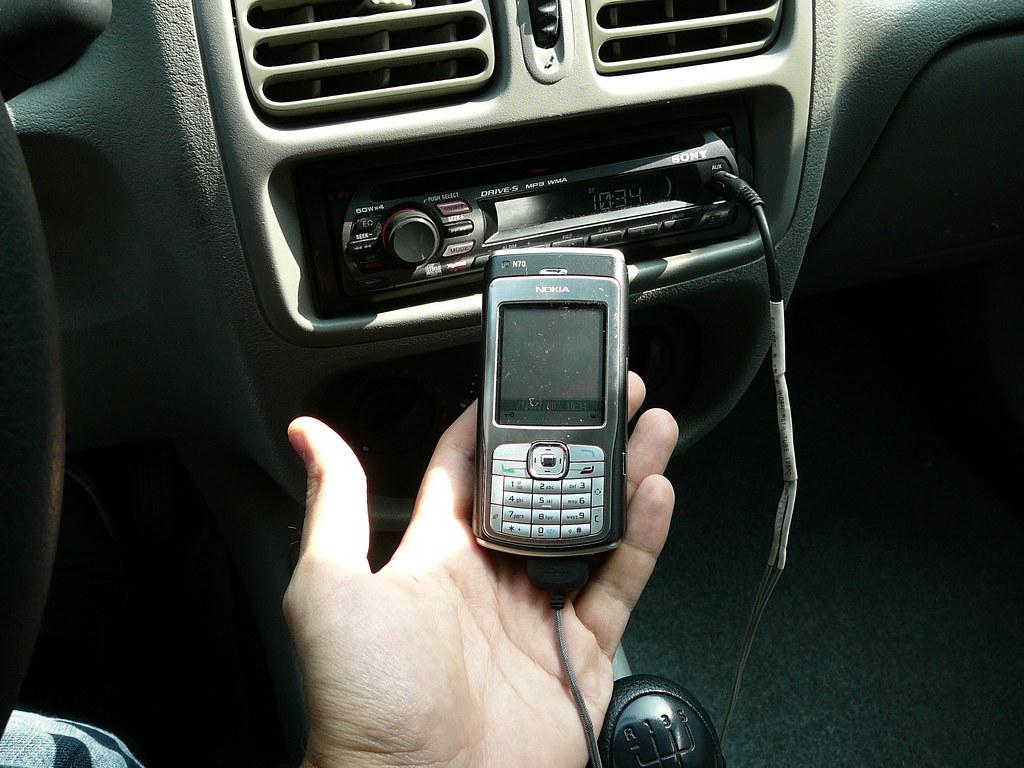 Nokia N70 DIY Loudspeaker car adapter