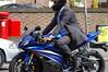 Easy rider (Jane Hoskyn) Tags: road wedding summer sunshine bike traffic tie suit motorbike postbox e17 walthamstow suitedandbooted easyrider alldressedup almostmissedit