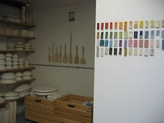 the new order (diana fayt) Tags: sanfrancisco color studio ceramics tools clay bayview woodenspoons dianafayt plastermolds ysplix testtiles