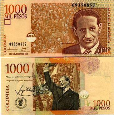 1000 Pesos Colombia 2006