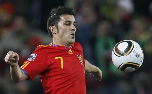 David Villa España Mundial Sudáfrica fútbol