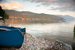 end of a fishing day. (gr0uch0) Tags: travel school summer lake beach boat rocks macedonia ohrid fisher balkan reizen svetijovan jtel telss10