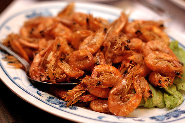 Baby Shrimp - wild shrimp caught off Singapore coasts, plain-fried