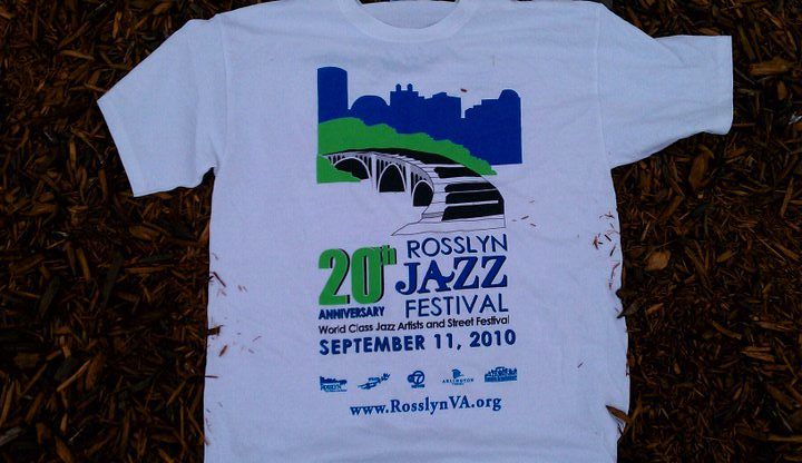 Rosslyn Jazz Fest water based screen printing ink