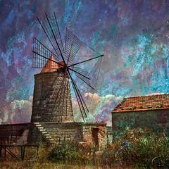 Marsala - Sicily (Filip Nystedt) Tags: italien italy texture windmill europa udo sicily canonef2470mm28lusm sicilien absoluteblue idream canon5dmarkii artistictreasurechest bestcapturesaoi magicunicornverybes