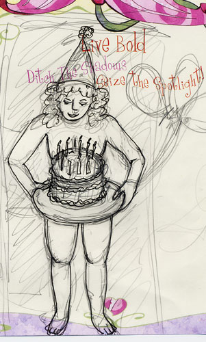 Birthday Suit original sketch