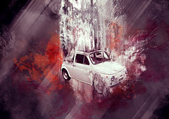 old generation (zeninho ) Tags: auto red italy white color art texture car collage illustration digital photoshop design artwork graphics italia purple graphic fiat grunge digitalart explosion surreal manipulation brush boom oldschool montage tribute 500 macchina oldage generation raster bitmap madeinitaly cinquecento cascata digitalcollage boomgeneration illustrazione economicboom zeninho