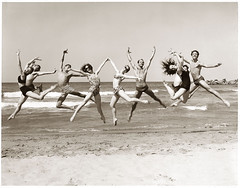 American Ballet Theatre dancers in Caracas (R. O. Flinn) Tags: ocean ballet beach jumping dancers joy caracas