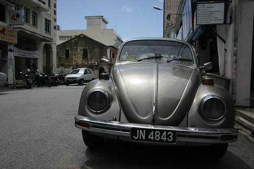 The ubiquitous VW Beetle...Penang, Malaysia.